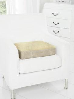 Schurwoll-Komfort-Sitzkissen Natur Detail 1