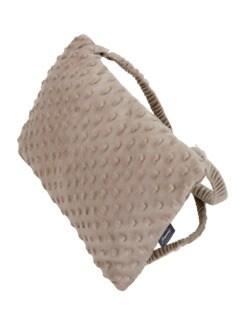 Mobiles Kissen mit Wärmflasche Beige Detail 1
