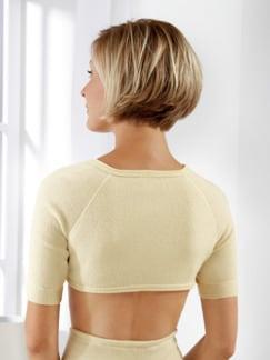 Schulter- und Nackenwärmer Ecru Detail 1