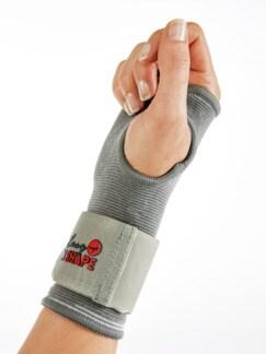 Neopren-Handgelenk-Bandage Grau Detail 1