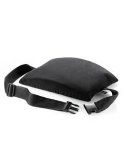 Airgo-Aktiv-Rückenkissen mit Bezug Schwarz Detail 1