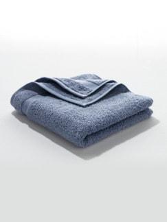Handtuch Bio-Baumwolle Taubenblau Detail 1
