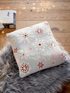 Deko-Kissen Schneeflocke