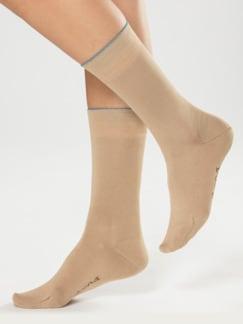 Baumwoll-Naturseide-Socken Sand Detail 1