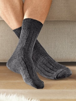 Thermosoft-Socken Herr 2 Paar Anthrazit Detail 1