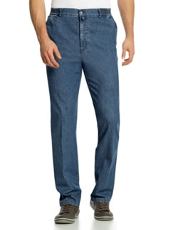Herren-Komfortbund-Jeans Hellblau Detail 1