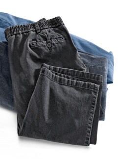 Herren-Komfortbund-Jeans Anthrazit Detail 1