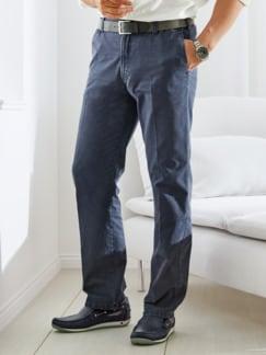 Stretchhose Sommerleicht Jeansblau Detail 1