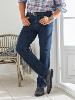 Rundum-Stretch-Jeans Dunkelblau Detail 1