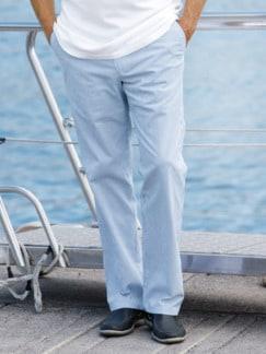 Komfortbund-Hose Seemannsstreifen Blau-Weiß Detail 1