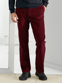 Feincordhose Supersoft Bordeaux Detail 1