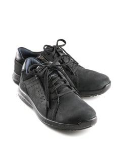 Reißverschluss-Bequem-Sneaker Schwarz Detail 1