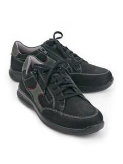 Doppel-Reißverschluss-Sneaker Schwarz Detail 1