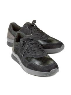 Hallux-Sneaker Extraweit Schwarz Detail 1
