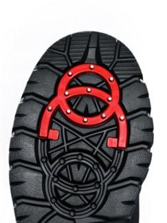 Aquastop-Spike-Klett-Boots Schwarz Detail 3