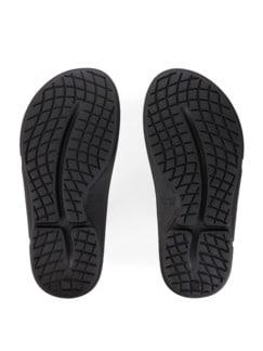 Pantolette Soft-Komfort Schwarz Detail 4