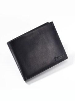 Leder-Sicherheits-Geldbörse Schwarz Detail 1