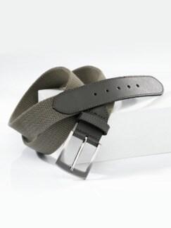 Herren-Textil-Dehngürtel Schlamm Detail 1