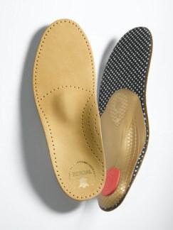 Komfort-Fußbett Nappa-Leder Hellbeige Detail 1