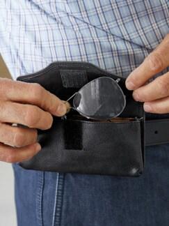 Brillen-Gürteltasche Schwarz Detail 4