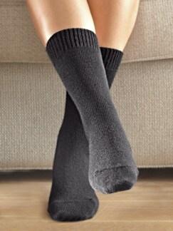 Thermosoft-Socken Dame 2 Paar Schwarz Detail 1
