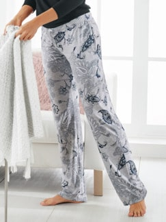 Supersoft Schlafhose Paisley Grau Detail 1