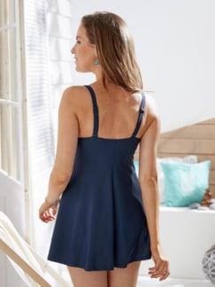 Badekleid Sommerzeit Blau gemustert Detail 2
