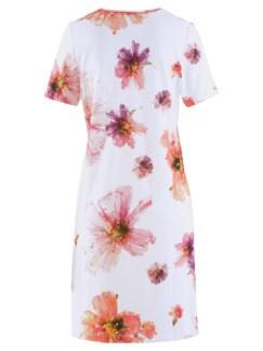 Nachthemd Sommerblüte Weiß geblümt Detail 3