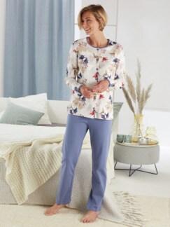 Bequem-Schlafanzug Softness Flieder Detail 1