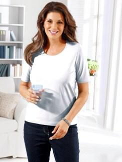 Wohlfühl-Basic-Shirt Weiß Detail 1