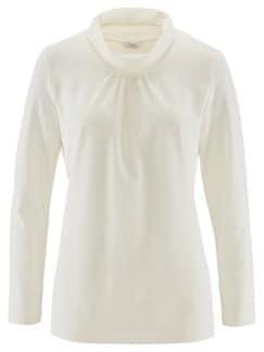 Wohlfühl-Thermo-Shirt Rollkragen Ecru Detail 3