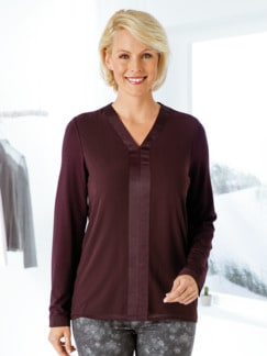 Sensitiv-Tunikashirt Aubergine Detail 1