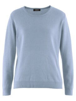 Kaschmir-Seide-Premium-Pullover Hellblau Detail 3