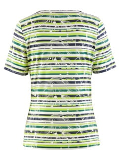Aloe vera-Shirt Sommerfrische Lime gestreift Detail 4
