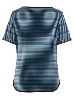 Freizeit-Shirt Streifen Blau Detail 4