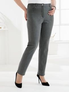 Komfortbund-Jeans 5 Pocket Grau Detail 1