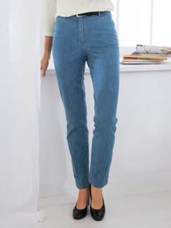 Damen-Komfortbund-Jeans Hellblau Detail 1