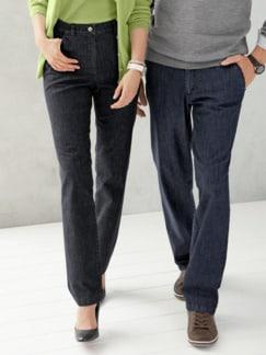 Damen-Komfortbund-Jeans Anthrazit Detail 1