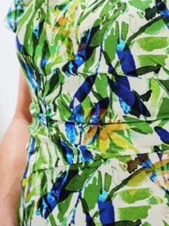Freizeitkleid Tropical Grün gemustert Detail 4