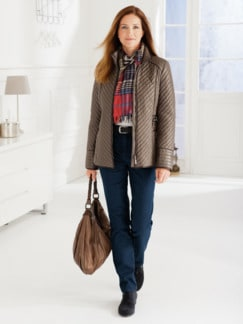 Damen-Thermo-Jeans 5-Pocket Dunkelblau Detail 2