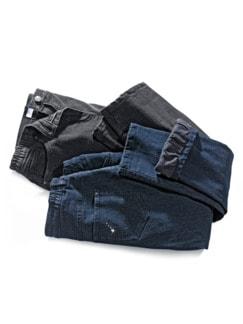 Damen-Thermo-Jeans 5-Pocket Dunkelblau Detail 4