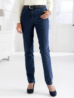 Damen-Thermo-Jeans 5-Pocket Dunkelblau Detail 1