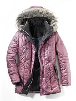 Steppjacke Supersoft Rosa Detail 3