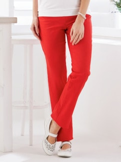Powerstretch-Hose feminin Rot Detail 1