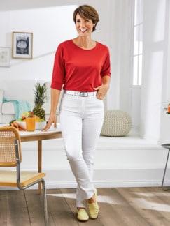 Macht-mich-schlank-Jeans Weiß Detail 2