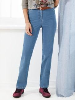 Bügelfrei-Komfortbund 5Pocket-Jeans Hellblau Detail 1