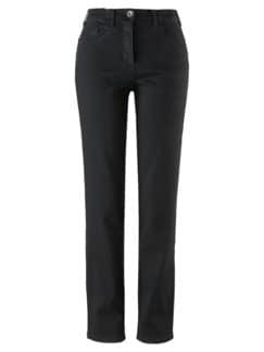 Bequembund-Kuschel-Jeans Anthrazit Detail 3