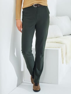 Bequembundhose Diagonal-Stretch Oliv Detail 1