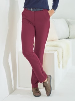 Bequembundhose Diagonal-Stretch Bordeaux Detail 1