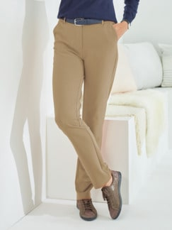 Bequembundhose Diagonal-Stretch Beige Detail 1